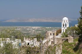 Výhled z Asfendiou na moře, ostrov Kos