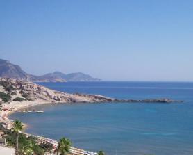 Ostrov Kos s pláží Paradies