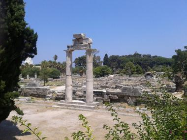 Pohled na agoru ve městě Kos